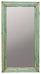 vintage style distressed green mirror