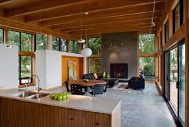 northwest modern home architecture. Living Area And Fireplace In NW Modern New Home Northwest Architecture H