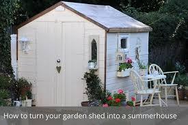 garden shed into a summerhouse