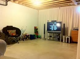 Alluring Inexpensive Unfinished Basement Ideas With Cheap Basement - Unfinished basement man cave ideas