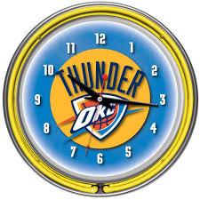 Okc Thunder Bedroom Decor Trademark Global 14 In Chicago Bulls Nba Chrome Double Ring Neon