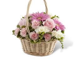 Basket Flower Decoration Wicker Flower Baskets Flowers Ideas