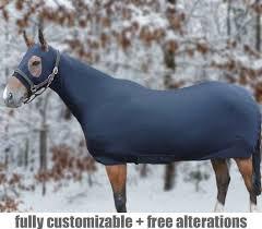 polar fleece lined horse uni body