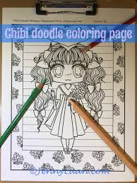 Small Picture Chibi girl graduation Doodle Anime Manga Coloring Page for Adult