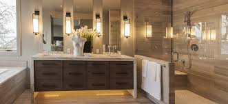 Contemporary Master Bathroom with Beige Porcelain Tile, High ceiling, Wall  sconce, Java Tan