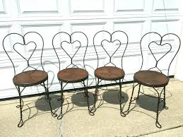 ice cream parlor table and chairs ice cream parlor chairs 4 vintage sweetheart w embossed fl