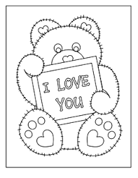 Free Valentine Coloring Pages Printable Coloring Image