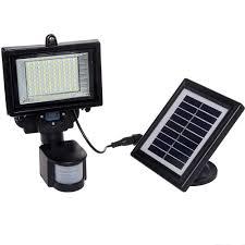 Amazoncom MAXSA Solar LED Security Floodlight Motion Activated Solar Security Flood Light
