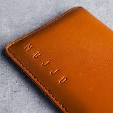 mujjo leather wallet sleeve iphone x xs tan 02