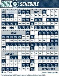 Mariners release 2019 schedule with ...