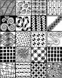 printable sheets to serve as a quick reference for zentangle