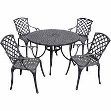 Aluminum Outdoor Dining Table Crosley Furniture Sedona 46 Five Piece Cast Aluminum Outdoor