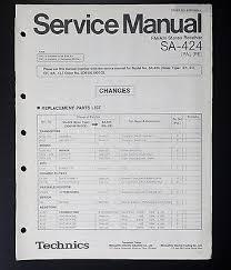 technics sa receiver original service manual service manual technics sa 424 receiver original service manual service manual wiring diagram