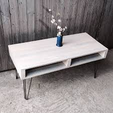 DIY Reclaimed Pallet Chevron Coffee Table  101 PalletsPallet Coffee Table With Hairpin Legs