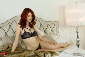 Red head lingerie soft core