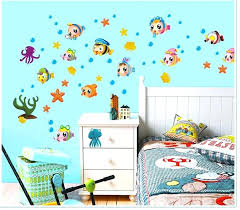 marine life under the sea wall decal stickers decor tropical fish bath room wallpaper art poster under the sea ocean animal wall decal stickers