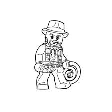 Small Picture Lego Coloring Pages Lego Indiana Jones Coloring Page Cartoon Jr