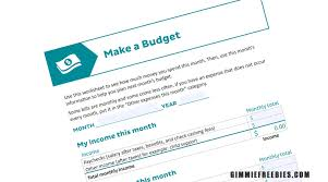 Free Home Budget Worksheet Free Home Budget Worksheet By Mail Gimmiefreebies
