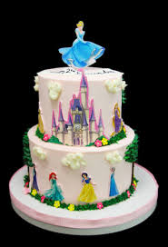 Printout Disney Princesses With Castle Cake Butterfly Bake Shop In