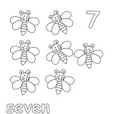 Small Picture Learn Number 7 with Seven Stars Coloring Page Learn Number 7 with