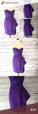 London Times Size Chart London Times Purple Strapless Ruched Dress 1x Type Strapless