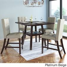 Corliving Bistro 36 Inch Counter Height Cappuccino Dining Set