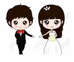 Cute Couple Png Wedding Cute And Wedding Couple Vector Png Transparent