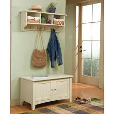 Storage Bench And Coat Rack Set Alaterra Shaker Cottage Storage Bench and Coat Rack Set Hayneedle 3