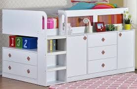 cabin bed with storage. Plain Storage White Chlldrens Midsleeper Storage Cabin Bed Intended With S