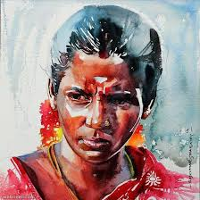 indian watercolor painting by rajar sthabathy indian watercolor painting