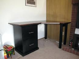 corner desk with file cabinet black l shaped espresso diy cabinets