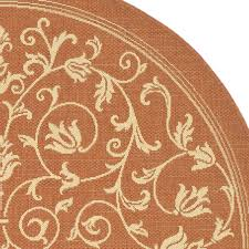 safavieh courtyard persian terracotta natural indoor outdoor round rug cy2098 3202rd