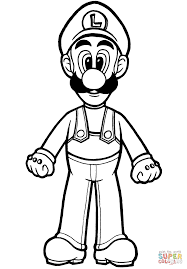 Small Picture Luigi coloring page Free Printable Coloring Pages