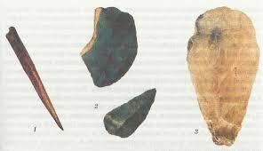 Этапы эволюции человека Древние и первые современные люди  1 деревянное копье сделанное 300 тыс лет назад 2 каменное орудие