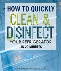 brilliant cleaning tips to keep your home sparkling great diy diy how to clean and disinfect your refrigerator