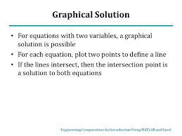 graphical solution for equations with two variables a graphical solution is possible for each