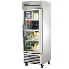 ft stainless steel 1 glass door refrigerator