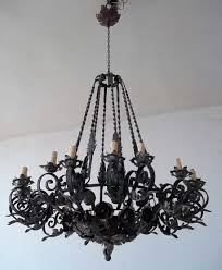 gorgeous rod iron chandelier 24 26 lights wrought crystal 536688610 regarding ideas 8