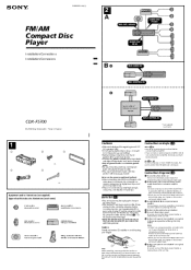 sony cdx f installation fm am compact disc player installation connections instructions