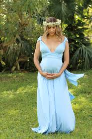 Off Shoulder Dressmaternity Gownmaternity DressmaternityBlue Maternity Dress Baby Shower