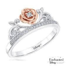 amazon disney enchanted fine jewelry diamond belle princess ring 1 10ctw size 5 5 jewelry