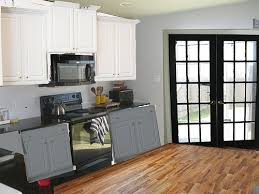 french doors in kitchen. Unique French Kitchen W Black Door Gray Lower Cabinets To French Doors In Kitchen P