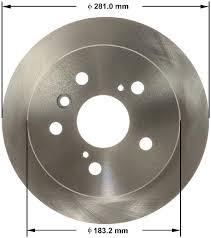 2012 Toyota Camry Disc Brake Rotor Autopartskart Com