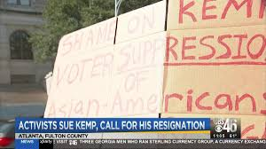 Sterling Currency Group Atlanta Activists Sue Kemp Call For Resignation Cbs46 Com