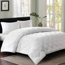 Home Bedding Fiber Fill Comforter Blanket White Quilt Duvet Insert ... & Home Bedding Fiber Fill Comforter Blanket White Quilt Duvet Insert Adamdwight.com