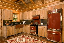 rustic cabin kitchens. 5 Reasons To Choose Rustic Cabin Kitchens : Luxury Kitchen Design With Brown Wooden L