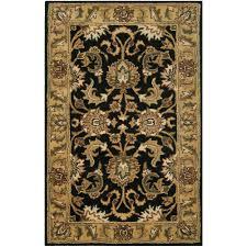 safavieh classic black gold 2 ft x 4 ft area rug