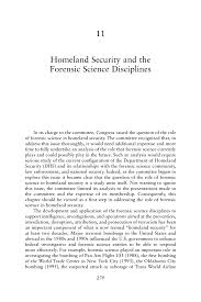 11 Homeland Security And The Forensic Science Disciplines