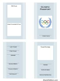 Free Passport Template For Kids Olympics for Kids Free Printable Passport with Learning Activities 92