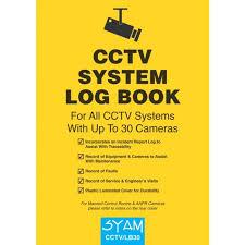 Syam Cctv Lb30 Cctv System Log Book For Upto 30 Camera Systems